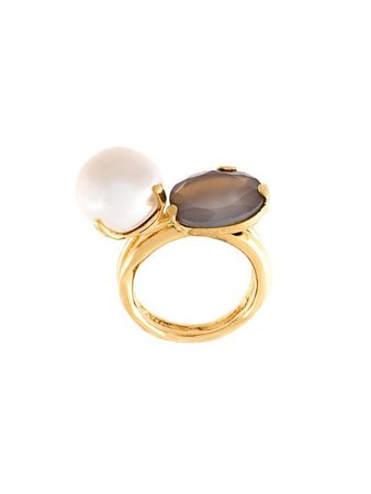Wouters & Hendrix Gold Pearl Agate Ring