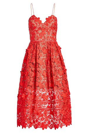 Azaelea 3D Lace Fit & Flare Dress Gr. UK 6