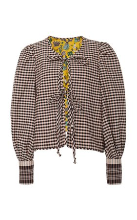 Alix of Bohemia Brigitte Plaid Cotton Jacket