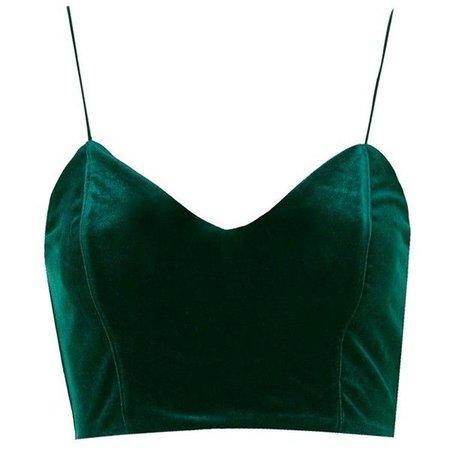Emerald Velvet Crop Top