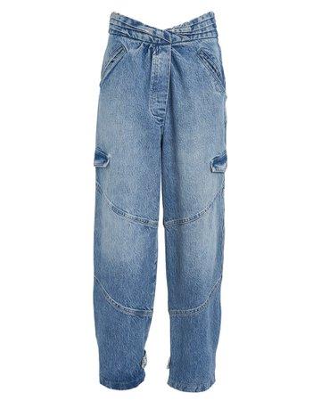 RtA | Dallas Relaxed Drifter Blue Jeans | INTERMIX®