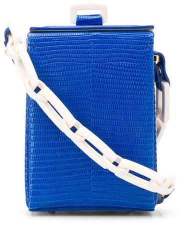 Chain Strap Croc-Effect Cross Body Bag