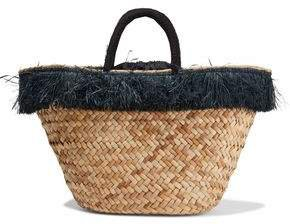 Fallyn Fringe-trimmed Woven Straw Tote