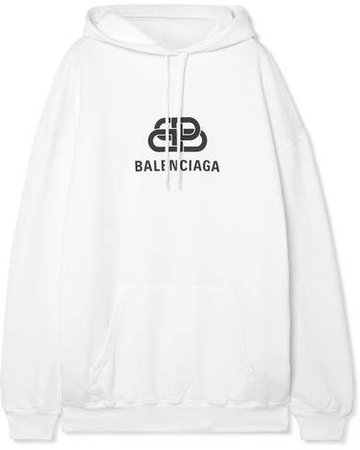 Oversized Cotton-jersey Hoodie - White