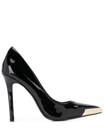 Black Versace Jeans Couture Pointed-Toe Pumps | Farfetch.com