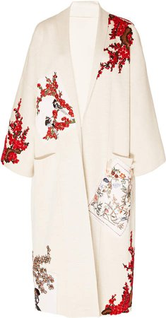 Embroidered Silk Coat Size: XS