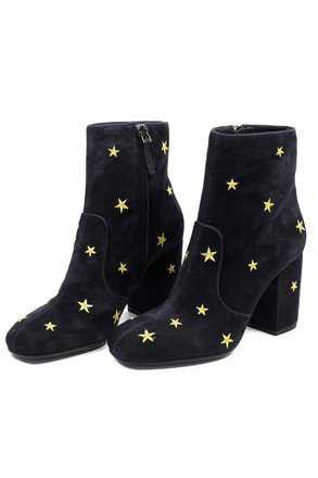 Free People Black Subra Embroidered Stars Ankle 7 Boots/Booties Size EU 37 (Approx. US 7) Regular (M, B) - Tradesy