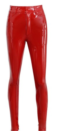 House of CB Red Latex Pants
