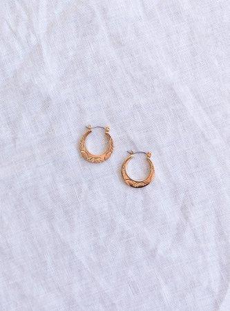 In Time Hoop Earrings