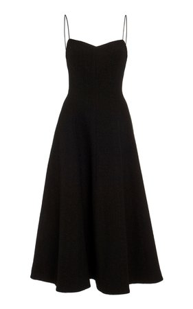 Rebecca Vallance Natalia Strap Midi Dress Size: 4