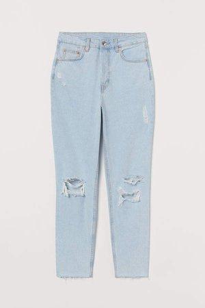 Slim Mom Jeans Trashed - Blue