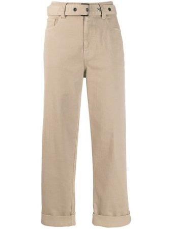 Brunello Cucinelli Belted straight-leg Trousers - Farfetch