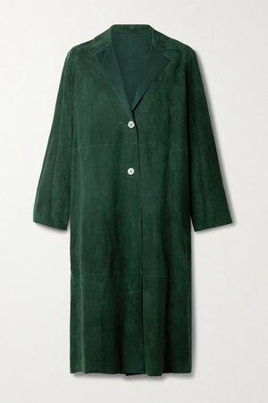 Suede Coat - Emerald