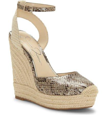 Jessica Simpson Zestah Ankle Strap Espadrille Wedge (Women)   Nordstrom