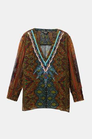 Boho lurex blouse | Desigual.com
