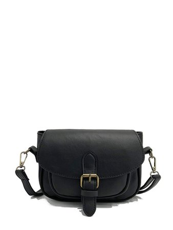 Buckle Detail Saddle Bag