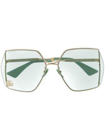Gucci Eyewear Double G oversized-frame Sunglasses - Farfetch