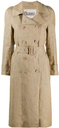 Long Belted Trench Coat
