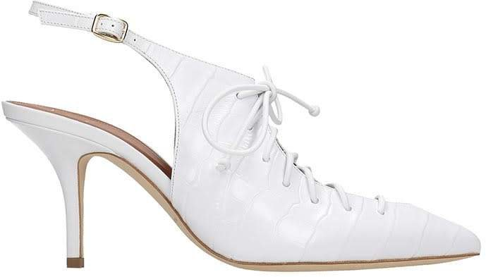 Alessandra Pumps In White Leather