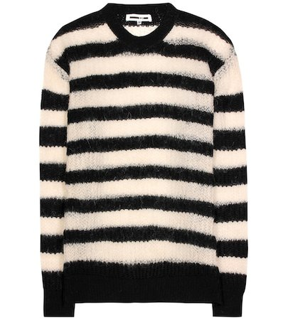 Wool, mohair and cashmere blend sweater
