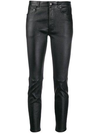 Saint Laurent Skinny Leather Trousers - Farfetch