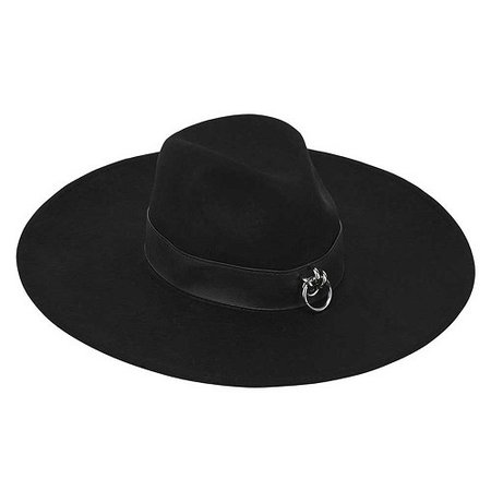 Maya Brimmed Black Hat - KILLSTAR