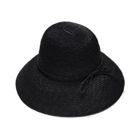 Black Cloche Straw Hat | Justine Hats | Wolf & Badger