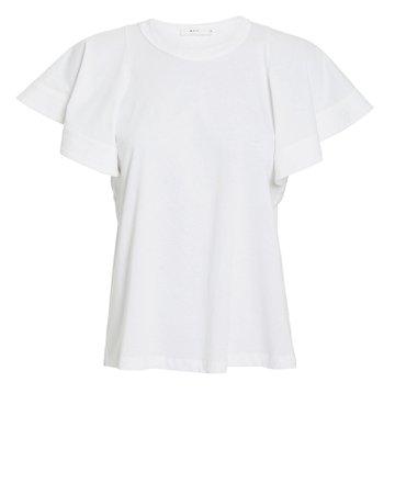 Carrie Ruffled Jersey T-Shirt | INTERMIX®