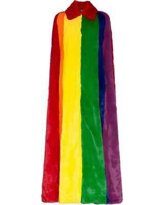 long rainbow coat