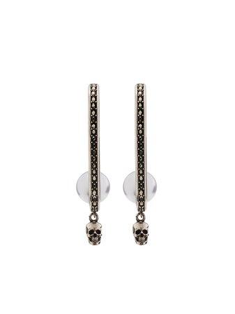 Alexander McQueen Pearly Skull Drop Earrings - Farfetch