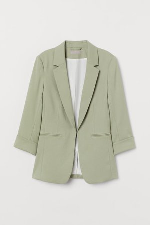 Fitted Blazer - Light khaki green - Ladies   H&M US