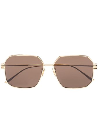 Bottega Veneta Eyewear square-frame Tinted Sunglasses - Farfetch