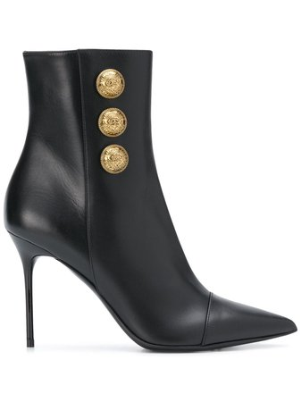 Balmain Roni Pointed Toe Ankle Boots - Farfetch