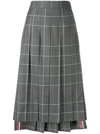 Thom Browne Windowpane Shadow Check Skirt - Farfetch
