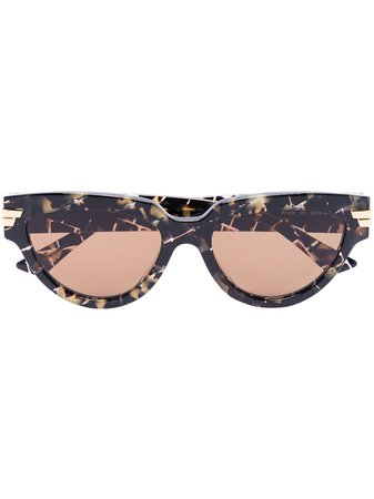 Bottega Veneta Eyewear cat-eye Frame tortoiseshell-effect Sunglasses - Farfetch
