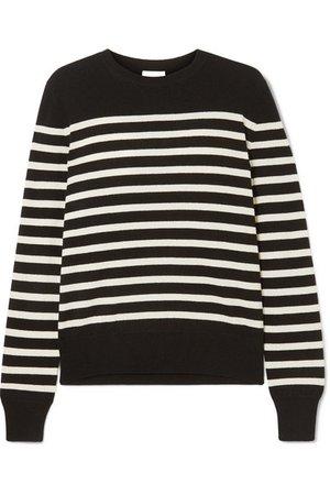 Saint Laurent   Striped cashmere sweater   NET-A-PORTER.COM