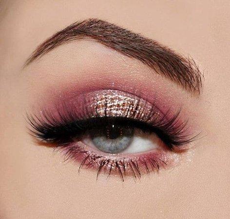 Pink Rose Gold Eye Makeup