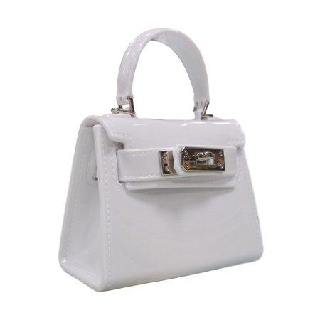 white mini jelly bag