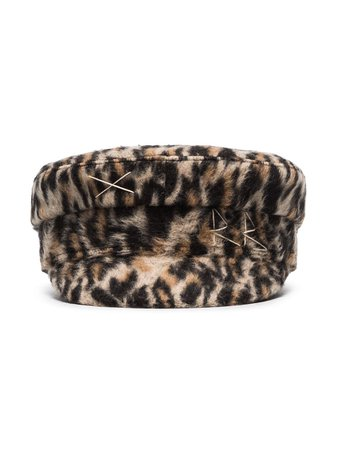 Ruslan Baginskiy leopard-print Baker Boy Hat - Farfetch