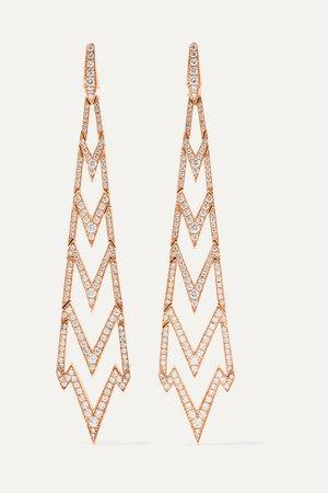 Stephen Webster | Lady Stardust 18-karat rose gold diamond earrings | NET-A-PORTER.COM