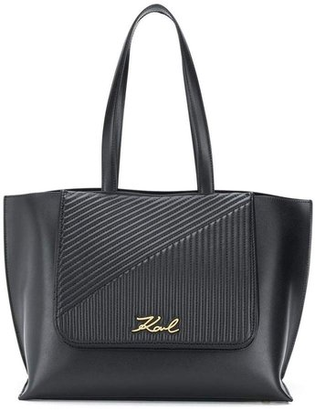 K/Signature quilted tote bag