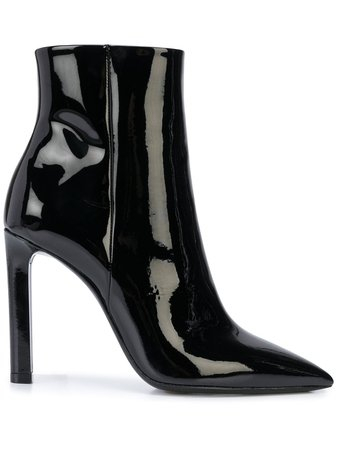 Saint Laurent Pointed Toe Ankle Boots - Farfetch