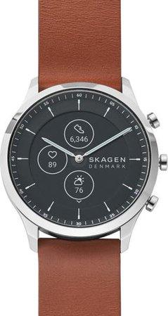 Jorn Hybrid HR Leather Strap Smart Watch, 42mm | Nordstrom