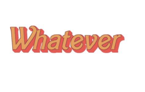 whatever text words yellow orange
