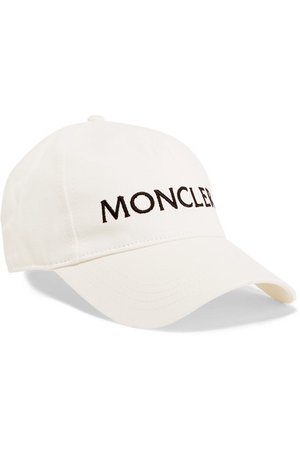Moncler | Embroidered cotton-twill baseball cap | NET-A-PORTER.COM