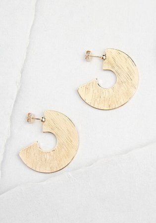 Modern Minimalist Hoop Earrings Gold | ModCloth