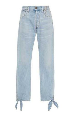 Hunter High-Rise Straight-Leg Jeans by Jean Atelier