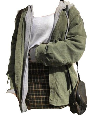 green outfit png