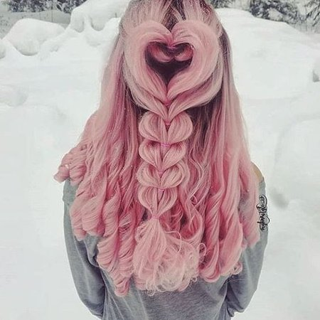 Pink Heart Hairstyle