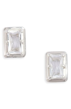 Anzie White Topaz Baguette Stud Earrings | Nordstrom